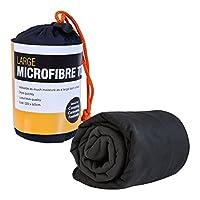 Milestone Camping 20370 Microfibre Towel, Black, Large, 120cm x 60cm 3