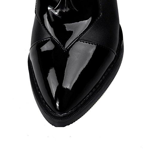 Damen Frosted Pumpen Sortiert Schwarz Schuhe Adee Farbe 8dwqg1z