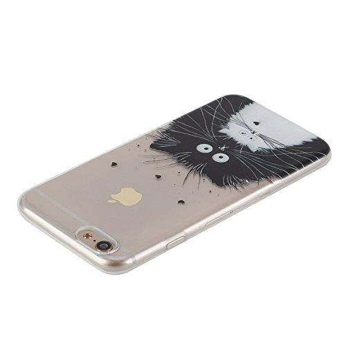 Coque iphone 7 plus,Coffeetreehouse Etui Silicone Transparente de Dessin Original en TPU Souple Case Cover Personnalisé pour iphone 7 plus - AD12 AD12