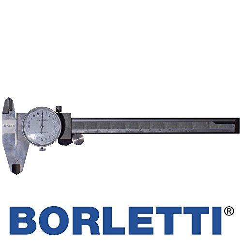 BORLETTI LTF calibro analogico 150 mm orologio precisione 0,02 mm scala metrica