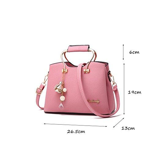 CLOTHES- Sacchetti di borsa delle borse di modo Borsa di spalla del messaggero Borse grandi del sacchetto semplice borsa coreana di estate ( Colore : Rosa ) Rosa