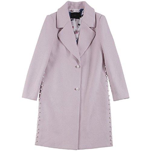 Il nuovo autunno e inverno modo delle donne 's di lana cappotto lungo doppio - (Tamburo Con Collare)