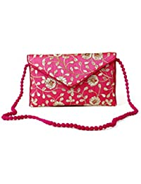 Homeart9 Women's Sling Bag (Embridered Handicraft Traditional Sling Bag,Multi-Coloured)