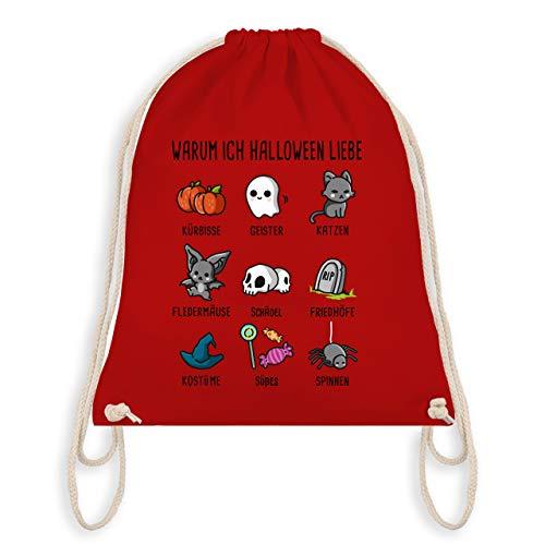 (Halloween - Warum ich Halloween liebe - Unisize - Rot - WM110 - Turnbeutel & Gym Bag)