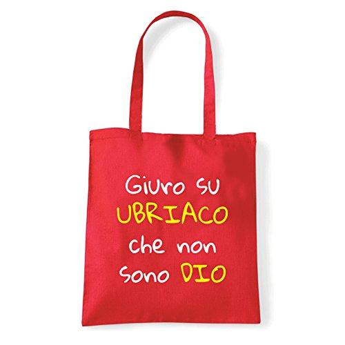 Art T-shirt, Borsa Shoulder Non Sono Ubriaco, Shopper, Mare Rosso