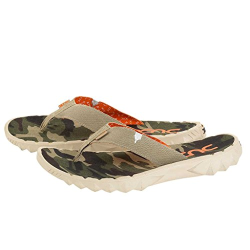 Dude Shoes Sava Funk Beige Canvas Flip Flop Beige & Multi Colour