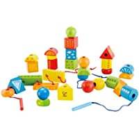 Hape E1019 - Fädelklötze, Babyspielzeug