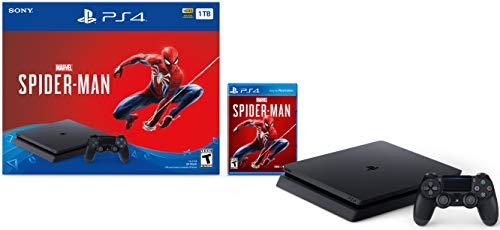 Sony PlayStation 4 Schlanke 1TB Konsole - Marvels Spider-Man Bundle [Nicht mehr] (Psp Marvel Spiele)