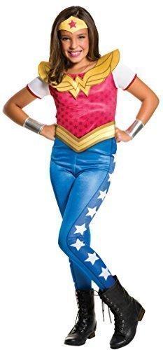 Mädchen DC Comics Wonder Woman Overall Superhelden Comic Büchertag Woche Halloween Film Kostüm Kleid Outfit 3 - 10 jahre - 8-10 (Für Wonderwoman Kostüm Mädchen)