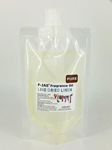 F-JAS Pochette Huile parfumée (100 ML), Line-Dried Linen, Pure