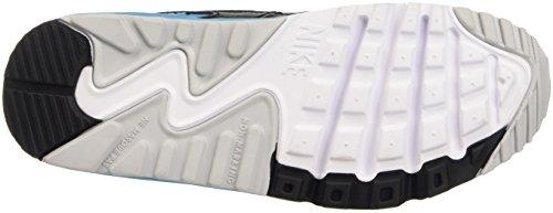 Nike Air Max 90 Mesh (Gs) Scarpe da Ginnastica, Bambino Bianco (White/Neutral Grey/Blck/Bl Lgn)