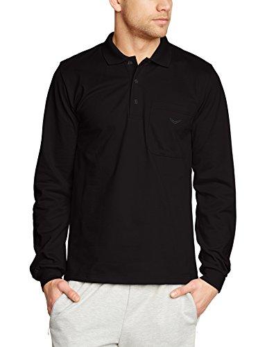 Trigema Herren Poloshirt 621652, Einfarbig, Gr. XXXX-Large, Schwarz (schwarz 008)