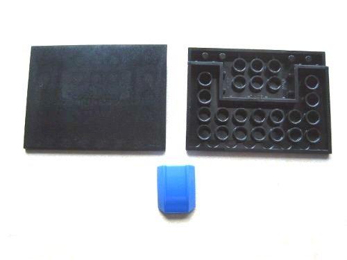 LEGO CITY - 2 Rampensteine / Schrägsteine / Keilsteine im seltenen schwarz...