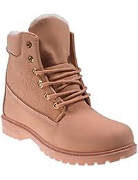 5062 Fashion4Young Gefütterte Damen Stiefel Stiefelette Ankle Boots Booties  Schnürschuhe Lederimitat 080cf849f9