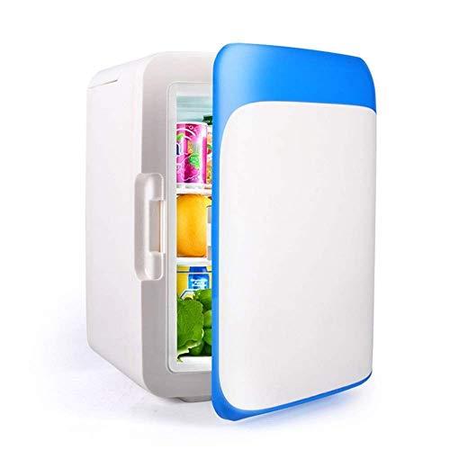 LMDC Blau 10L Tragbarer Thermoelektrischer Kühler und Wärmer Mini Kühlschrank for Schlafzimmer, Büro oder Wohnheim Mini Kühlschrank (32 * 25 * 24,5 cm) -