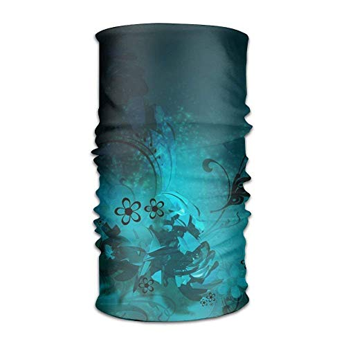 VTXWL Blue Flowerss 2 Fashionable Outdoor Hundred Change Headscarf Original Multifunctional Headwear Banded Tube Top