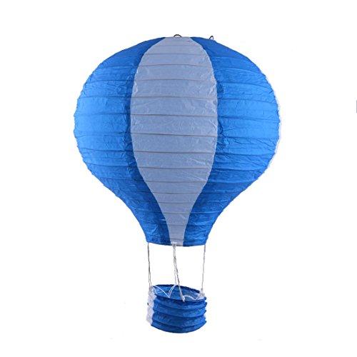Handgefertigte Lightless Heißluft Ballon Laterne Königsblau Weiß de