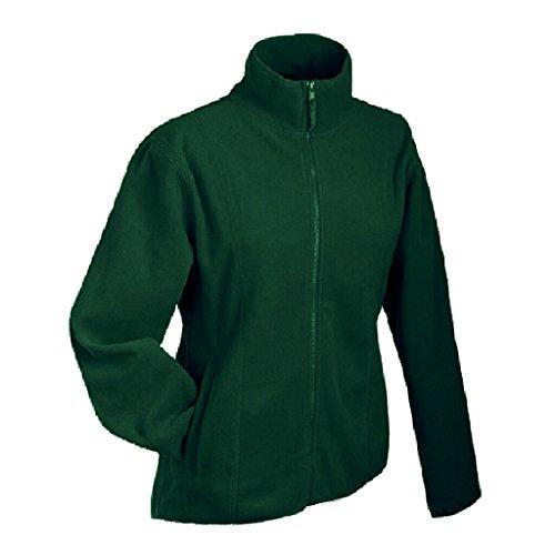 JAMES & NICHOLSON Leichte Jacke aus Microfleece Dark-Green