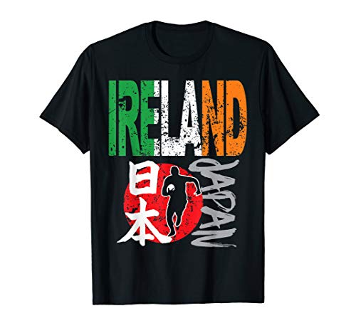 Ireland Football Rugby Flag USA Distressed T-Shirt - Rugby World Cup T-shirts