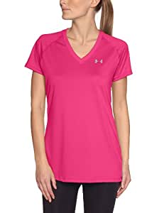 Under Armour Tech T-Shirt manches courtes col V Femme Chaos/Silver FR : XS (Taille Fabricant : XS)