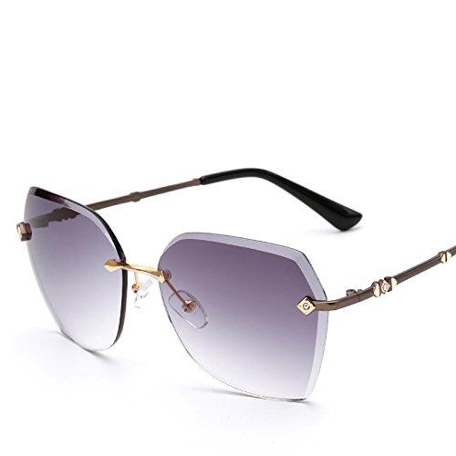 Sonnenbrille Frau New Fashion Big Box Round Face Langes Gesicht Elegante Persönlichkeit Sonnenbrille Hd Driving Glasses