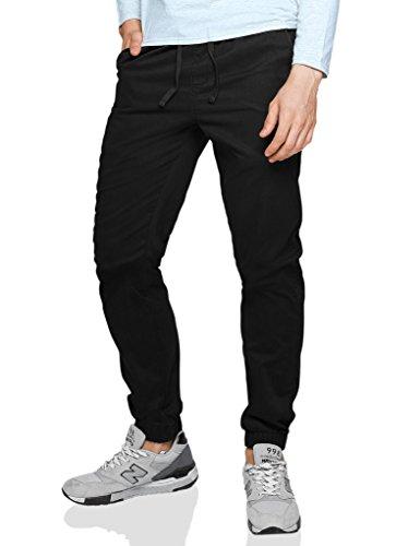 Match 6535 - Pantalón chino Pantalones Hombre Joggers(Negro(Black),32W (ES 42))