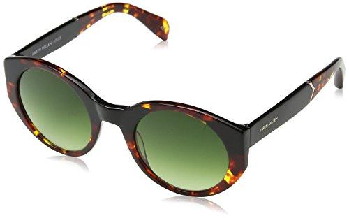 KAREN MILLEN Damen Km500618051 Sonnenbrille, Braun (Tortoise), 51