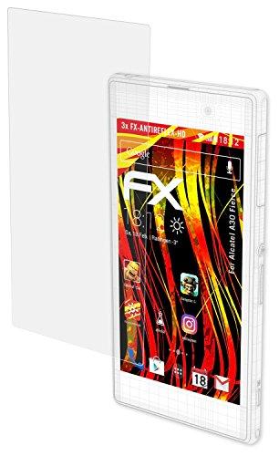 lcatel A30 Fierce Displayschutzfolie - 3 x FX-Antireflex-HD hochauflösende entspiegelnde Schutzfolie (Alcatel Handys Metro Pcs)