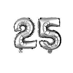 Idea Regalo - Palloncino gonfiabile ad elio nozze d'argento 25 anni anniversario di matrimonio per feste compleanni eventi party 35 cm