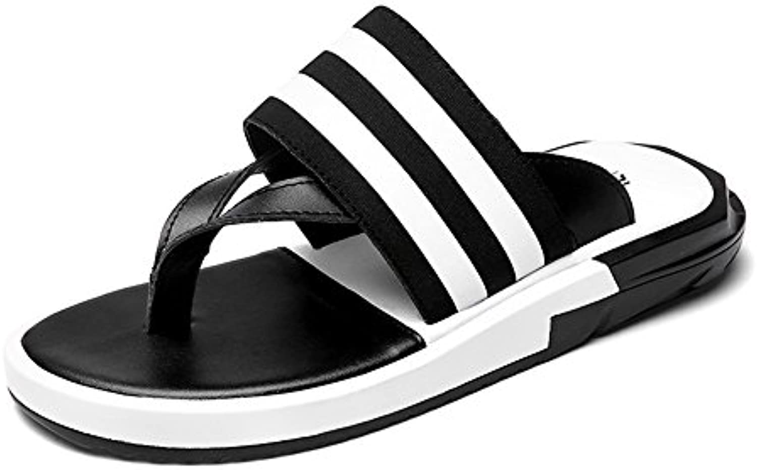 Feifei Zapatos de Hombre Summer Korean Version Sandalias de Playa Sandy Antideslizantes (Color : Negro, Tamaño... -