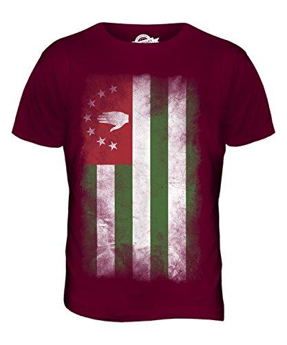 CandyMix Abchasien Verblichen Flagge Herren T Shirt Burgunderrot