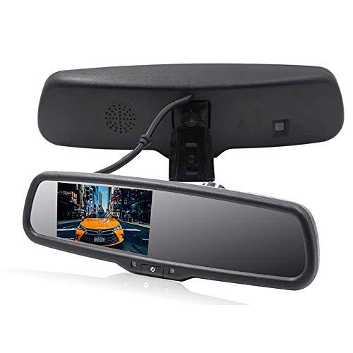 AZWE Auto-Rückspiegel-Kit 4,3-Zoll-LCD-Monitor Einfache Installation Einparkhilfe Rückwärtshilfe Geeignet Inklusive PKW-LKW und Wohnmobile