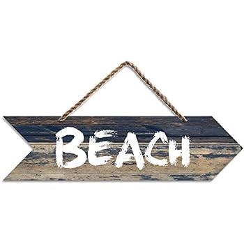 Farbiges vintage shabby schild dekoschild to the beach holzschild strand meer - Dekoartikel meer ...