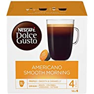 NESCAFÉ Dolce Gusto Americano Smooth Morning Coffee Pods, 16 Capsules (48 Servings, Pack of 3, Total 48 Capsules)