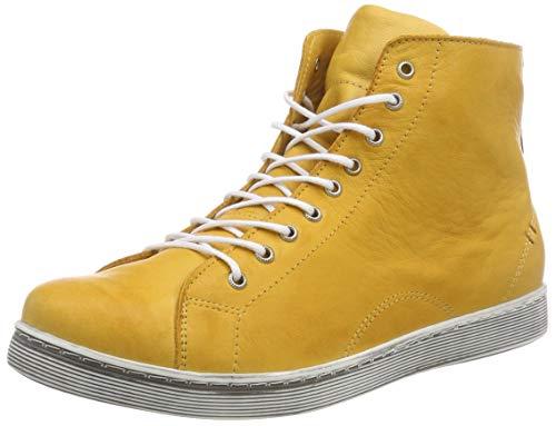 Andrea Conti Damen 0341500 Hohe Sneaker, Gelb (Ocker 116), 38 EU