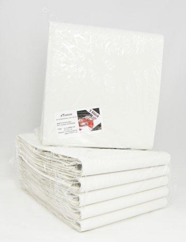 Papiertischdecke gefaltet • 5 Stück • weiß • reißfest • 250 x 80 cm • Biertisch-Tischdecken • Festzelt-Garnitur • ideal für Biertische mit dem Maß 220 x 50 cm (5 Stück)