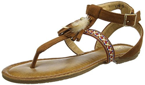 Joe Browns Sunset Beach Sandals, Spartiates Femme Marron (Beige)