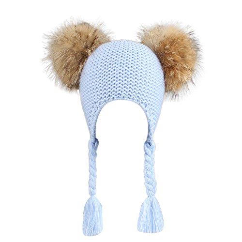 Kobay cappelli per bambini beanie per gilrs and boys con cappello real faux fu
