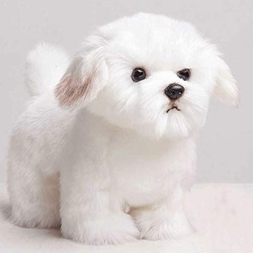 DXMRWJ Plüschtiere Plüschtiere Netter Welpe Plüschhund Simulation Haustier Flauschiges Baby Kind Geburtstagsgeschenk -