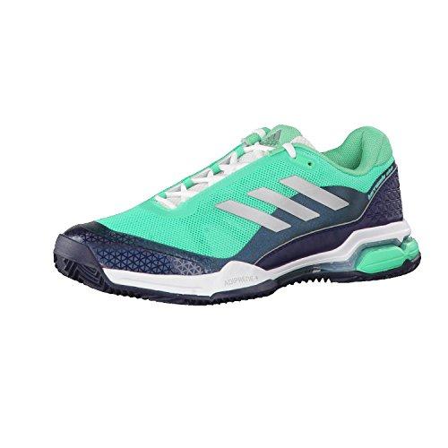 adidas Herren Barricade Club Tennisschuhe, Grün (Hi-Res Green/Matte Silver/Collegiate Navy), 42 EU