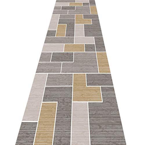 SESO UK- Teppich Läufer für Flurtreppen, nordischer geometrischer Handelshaushalts Hotel Halle Lange Teppich Runner (Size : 100×400cm)