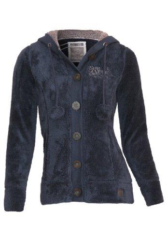 Sublevel Teddy Fleece Jacke mit Öhrchen, Größe:XL;Farbe:Dark Blue