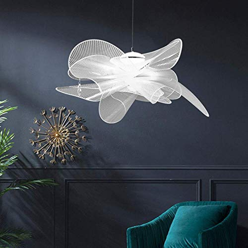 Kronleuchter HAODAMAI Moderne LED-Pendelleuchten 24W Kreative Mesh-Kristall-hängende Lampe Einfache Petal Pendelleuchten Höhenverstellbare Pendelleuchte Restaurant Schlafzimmer Wohnzimmer Esszimmer