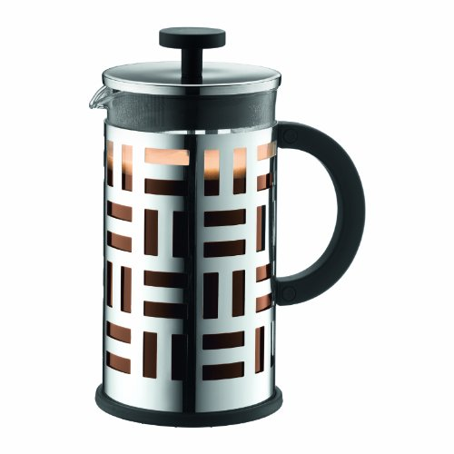Bodum EILEEN Kaffeebereiter (French Press System, Permanent Filter aus Edelstahl, 1,0 liters) glänzend