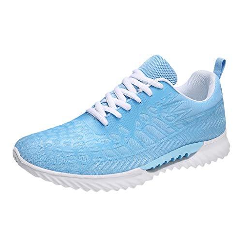 CUTUDE Turnschuhe für Herren, die spinnende Turnschuhe fliegen Lässiger atmungsaktiver Schuh Student Laufschuhe Mesh atmungsaktiver weicher Boden Laufsport Wanderschuhe (Himmelblau, 44 EU)
