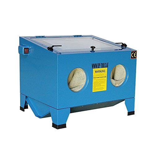 Preisvergleich Produktbild RP-TOOLS Sandstrahlkabine Sandstrahlgerät Sandstrahler Typ 90L