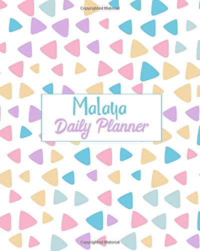 Malaya Daily Planner: 100 Sheet 8x10 inches for Diary, Planners, Notes, for Girls, Woman, Children and Initial name on Matte Pastel Design Cover , Malaya Daily Planner Malaya Cover