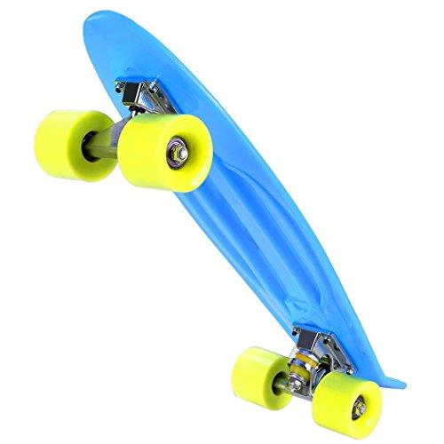 Swteeys Mini Cruiser Skateboard Kinder Retro Skateboard Vintage Skate Board 55CM belastbar 100kg