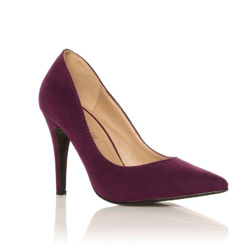 ShuWish UK - Escarpins Bout Pointu Talon Haut Imitation Daim Violet daim violet