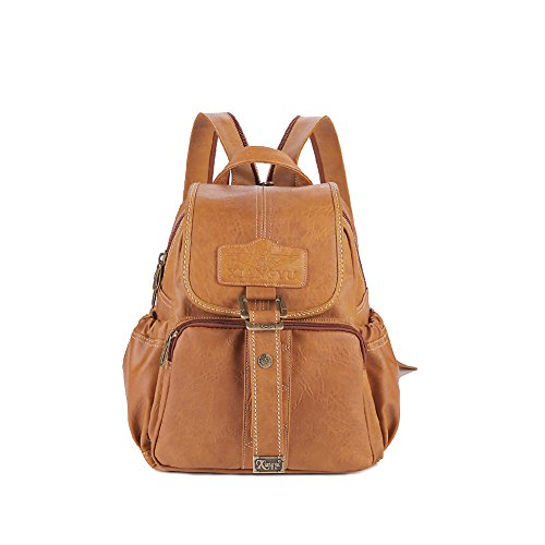 Lycailcy  LYC-Lycailcy-A09-20, Sac à main porté au dos pour femme Marron Magnetic Snap Light Brown(9.4 x 4.3 x 11 inches) Small(9.4 x 4.3 x 11 inches) Magnetic Snap Camel(10.6 x 4.7 x 12.6 inches)